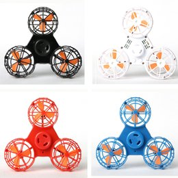 Wholesale Great Flying - 2018 newest Fidget Spinner Hand Flying Fidget Spinner Flying Spinning Top Toy For Autism Anxiety Stress Release Toy Great funny Gift
