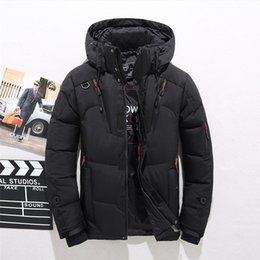 8b5e63e22d New Winter Warm White Duck Downs Jacket Men Outwear Thick Snow Parkas Hooded  Coat Male Casual Thermal Windproof Downs Jacket Men