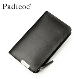 Wholesale key holders for car brands - Padieoe Brand Split Cow Leather Purse Unisex Housekeeper Designer Brand Men's Key Bag High Quality Key Wallet Holder For Car
