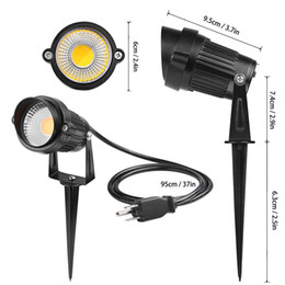 Wholesale Low Voltage Lighting Led - 3W 5W LED Landscape Spotlight 85-265V Outdoor Waterproof Path Light Low high Voltage Lamp with Spike Stand for Garden Yard Pathways Lawn