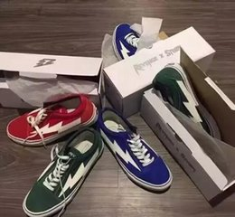 Wholesale Box Brother - REVENGE x STORM Shoes,Revenge of the storm! joint lightning KANYE little brother works, four color men and women shoes with box 36-44