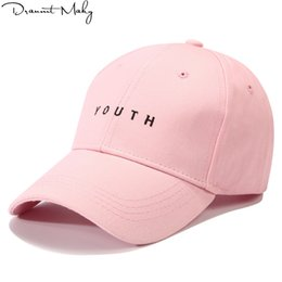 d92b7e475ad youth baseball caps wholesale 2019 - Youth letter embroidered caps lover  men women baseball cap snapback