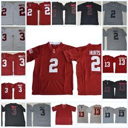 Wholesale Blackout Football - Mens NCAA Alabama Crimson Tide Jalen Hurts College Football Jerseys Blackout Ridley Tua Tagovailoa Alabama Crimson Tide Jersey