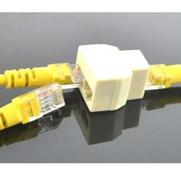 2019 diviseur de câble rj45 RJ45 1 à 2 LAN ethernet Réseau Câble Splitter Extender Plug adaptateur connecteur Livraison gratuite diviseur de câble rj45 pas cher