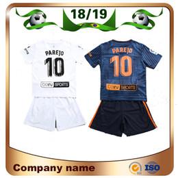 Kids Kit 18 19  10 PAREJO Soccer Jerseys 2019 Home white RODRIGO ZAZA Soccer  shirt children KONDOGBIA C.SOLER GUEDES S.MINA football uniform 7467fa887