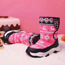 609c867f3003f Christmas Baby Shoes Hot Sale 2018 Winter Kids Medium Cotton Boots Children  Thicken Warm Waterproof Snow Boots Boys Girls Christmas Boots baby girl  boots ...
