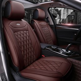 Coperture auto di hyundai online-Coprisedili di lusso in pelle PU Per Hyundai ix35 i30 ix25 Elantra tucson Sonata accessori auto car styling coprisedili