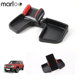 jeep mobile 2018 - Marloo Car Dash Cell Phone Holder With ABS Storage Box 360 Degree Rotate GPS Bracket Auto Mobile Holder For Jeep Renegade 15-17