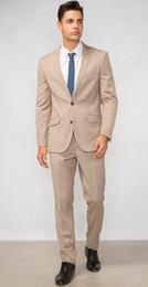 Wholesale Modern Jacket Men - New Simple Stylish Beige Men Suit 2 Pieces(Jacket+Pants+Tie) Casual Slim Fit Modern Custom Blazer Masculino Men Fashion 043