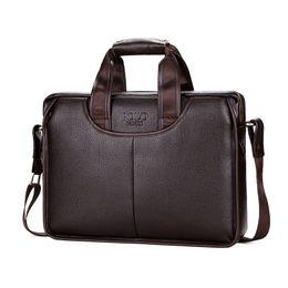 2019 POLO Diseño clásico Maletines de cuero de gran tamaño Hombres Casual Hombre de negocios Bolso Maletín de oficina Bolsos para laptop L147 desde fabricantes