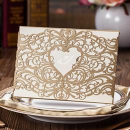 invitaciones de máscara Rebajas Invitación personalizada personalizada de boda de oro con sobres, sellos, impresión personalizada, para la boda