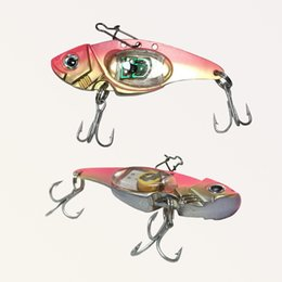 Fishing Lure Metal VIB Electric Lures Fishing LED Baits Metal Spoon Fishing Hard Lure Bass Blade Crank Bait Treble Hooks Spinners Se Coupons