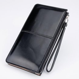 Wholesale Hand Bags Designs - Women Wallets Candy Oil Leather Wallet Long Design Day Clutch Casual Lady Cash Purse Women Hand Bag Carteira Feminina HQB1673