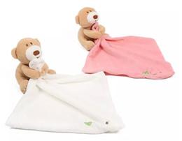 cartone animato a dormire Sconti Carino orso peluche lenitivo asciugamano bel bambino dormire placare coperta bambino newbaby bavaglini bambole giocattolo per bambini