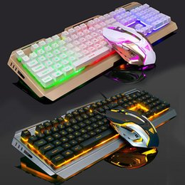 Wholesale Felt Games - V1 mechanical mechanical feel light keyboard and mouse set game dedicated gaming set