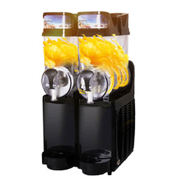 máquinas de neve Desconto Beijamei Completa automático 2 tanques máquina de derretimento de neve comercial máquina de lama elétrica máquina smoothies para venda