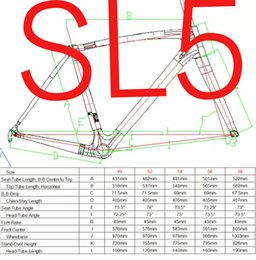 Wholesale Bicycle Bike Clamps Fork Frame - 2016 Newest SL5 Carbon Fiber Road Bicycle Frame Full Carbon Fiber road bike frame Including Cabon Fork,Seat Post,Seat Post Clamp,Headset