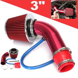 kit de filtro de admissão de ar Desconto Carro Universal de Entrada de Ar Frio Filtro Alumimum Indução Kit Tubo Mangueira Sistema Vermelho