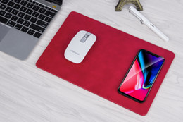 Wholesale Brand Computer Mouse - New arrive Computer Mouse Pad QI Wireless Fast Charging Charger For Apple iPhone X 8 Plus Samsung Galaxy S8 Mobile Phone Charge