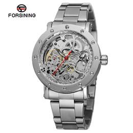 2019 старинные часы из нержавеющей стали Forsining Лучший бренд мужские часы онлайн античный скелет автоматический Браслет из нержавеющей стали коллекция наручные часы FSG8159M4 скидка старинные часы из нержавеющей стали