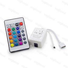 2019 ir приемники LED контроллер приемник RGB 24Keys ИК-пульт дистанционного управления для SMD3528 5050 RGB светодиодные полосы лампы ABS 144 Вт DC12V яркость мигает изменение EPACKET дешево ir приемники