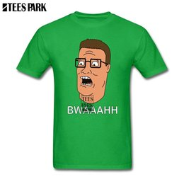 print graphic designer Coupons - Printed T Shirts King Of The Hill Propane Hank Men Designer T Shirts Daddy Personality Boy Funny Graphic Printing