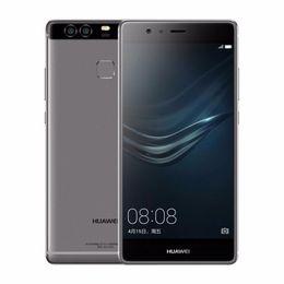 Wholesale huawei phone 4gb ram - Refurbished Original Huawei P9 4G LTE 5.2 inch Octa Core 3GB 4GB RAM 32GB 64GB ROM 12MP Camera Dual SIM Android Smart Phone Free DHL 1pcs