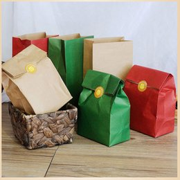 Wholesale Pocket Sandwich - Kraft Paper Bags Gift Bags 3 Size Food toaster Sandwich Bread Folding Pocket Packing Bag Party Wedding Wrapping Gift takeout Bags