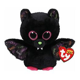 """2019 brinquedos usados frete grátis Ty Beanie Boos Plush Animal Boneca Dart Bat Brinquedos De Pelúcia Macia Com Tag 6 """"15 cm"""