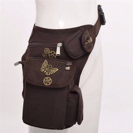 sexy gear Promo Codes - Vintage Gears Rock Gothic Waist Bag Steampunk Men Women Sexy Burlesque Costumes Corset Accessories