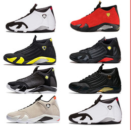Wholesale Cheap Size 14 Basketball Shoes - Cheap 2018 14s XIV Basketball Shoes Sneakers Wholesale 14 Men Fusion Varsity Red Suede Thunder Black Trainers Athletics Shoe 11 23 size 8-13