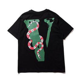 Canada Date Vlone imprimé serpent t-shirt pour les hommes 2019 Mode mens coton ami Skateboard Hip Hop T shirt tee top vêtements S-XL Offre
