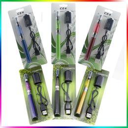 Wholesale Ego Pen Kits - Ego Ce4 Blister Kits CE4 Egot Starter Kit Ce4 Clearomizer EgoT Full Capacity Battery 650mah 900mah 1100mah Vape Pen Kits