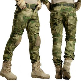 paintball tactical Coupons - Tactical Pant Camouflage Pant Army Paintball Pantalon Knee Pad Men SWAT Work Cargo Hunter Combat Trouser