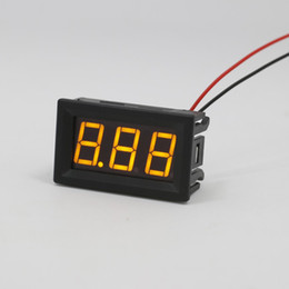 Wholesale amp batteries - 1pc 2 Wire Mini LED Digital Display Voltmeter Top Quality DC 2.5-30V battery tester LED Amp Digital Volt Meter Gauge