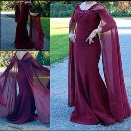 31aa8c4c79f Burgundy 2019 New Arrival Mermaid prom Dresses Floor Length Beads Sequined  Elegant Dresses Evening Wear Formal Dress Abendkleider caftan