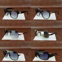 Gafas de metal para hombres online-Venta caliente Nuevo Metal de calidad superior Diseñador de moda hombres mujeres Gafas de sol de lujo UV400 anteojos para hombre gafas para mujer retro Masculino buenas gafas