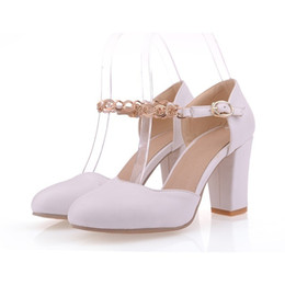 Wholesale prom trends - Vintage Trend Women Pumps Mary Janes High Heels Round toe Spring Autumn Prom Wedding Shoes Womens Platform Pumps