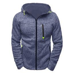 Wholesale Plus Size Polka Dot Coat - 2017 Casual Hoodies Male Cardigan Long Sleeve Hoodies Men Zipper Sweatshirt Mens Hooded Plus Size Coat Jacket