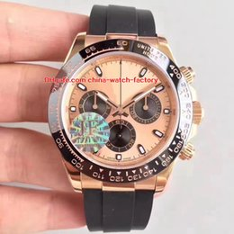 Wholesale white rubber swiss watch - 4 Color Best Edition JF Factory 40mm Cosmograph 116515 116515LN 18k Rose GoldCeramic Swiss ETA 7750 Movement Chronograph Mens Watch Watches