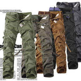 Wholesale Christmas Workers - High Quality Worker Pants CHRISTMAS NEW MENS CASUAL MILITARY ARMY CARGO CAMO COMBAT WORK PANTS TROUSERS