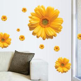1 компл. Дейзи декоративные ультра-мерные стены StickerCombination DIY стикер стены декор хризантемы главная спальня наклейка от