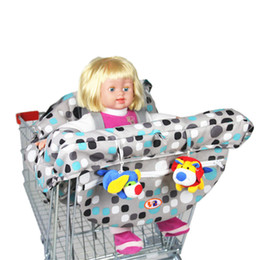 Wholesale Fold Chair Covers - Wholesale-Colorful Anti Dirty Safety Seats Striped Nylon Outdoor Chair Multifunctional Baby Children Folding Shopping Cart Cover For Kids