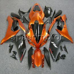 Argentina Colores + Regalos Molde de inyección ABS naranja Carenado negro Para Yamaha YZFR1 2007 2008 YZF-R1 07 08 YZF R1 Kit de carrocería de carrocería del mercado de accesorios cheap r1 plastics kit Suministro