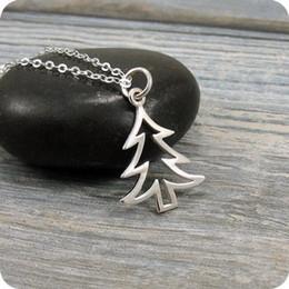 10pcs semplice albero di natale collana piccolo albero di pino collana vita famiglia ghianda foglie di quercia collane isola carino pianta regali da