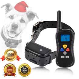 Collari di corpi di cane remoti online-Pet Dog Training Collar Impermeabile Remote Dog Trainer Bark Stopper Pet Supplies regolabili per addestramento del cane nero