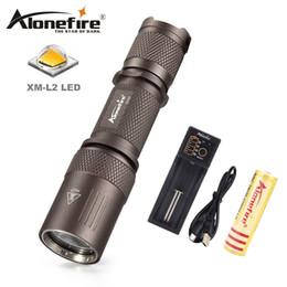 Wholesale search flashlight - AloneFire X530 Cree XML L2 Portable LED Flashlight 18650 Pocket light Tactical Flashlight Waterproof 5 modes Searching Light
