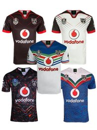 Wholesale rugby shirts xxl - 2018 2019 Auckland Warriors rugby jerseys 17 18 19 top quality 9S men rugby shirts NZ Warriors shirts free shipping