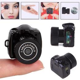 Wholesale Hidden Spy Camera Small - Hot Sale Y2000 Mini HD Video Camera Small Mini Pocket DV DVR Camcorder Recorder Spy Hidden Web spy Cameras DHL free shipping