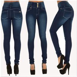 d1911f0570 Hot Women Ladies Jeans Mujer Denim Skinny Jeggings Jeans Pantalones de cintura  alta estiramiento delgado lápiz pantalones
